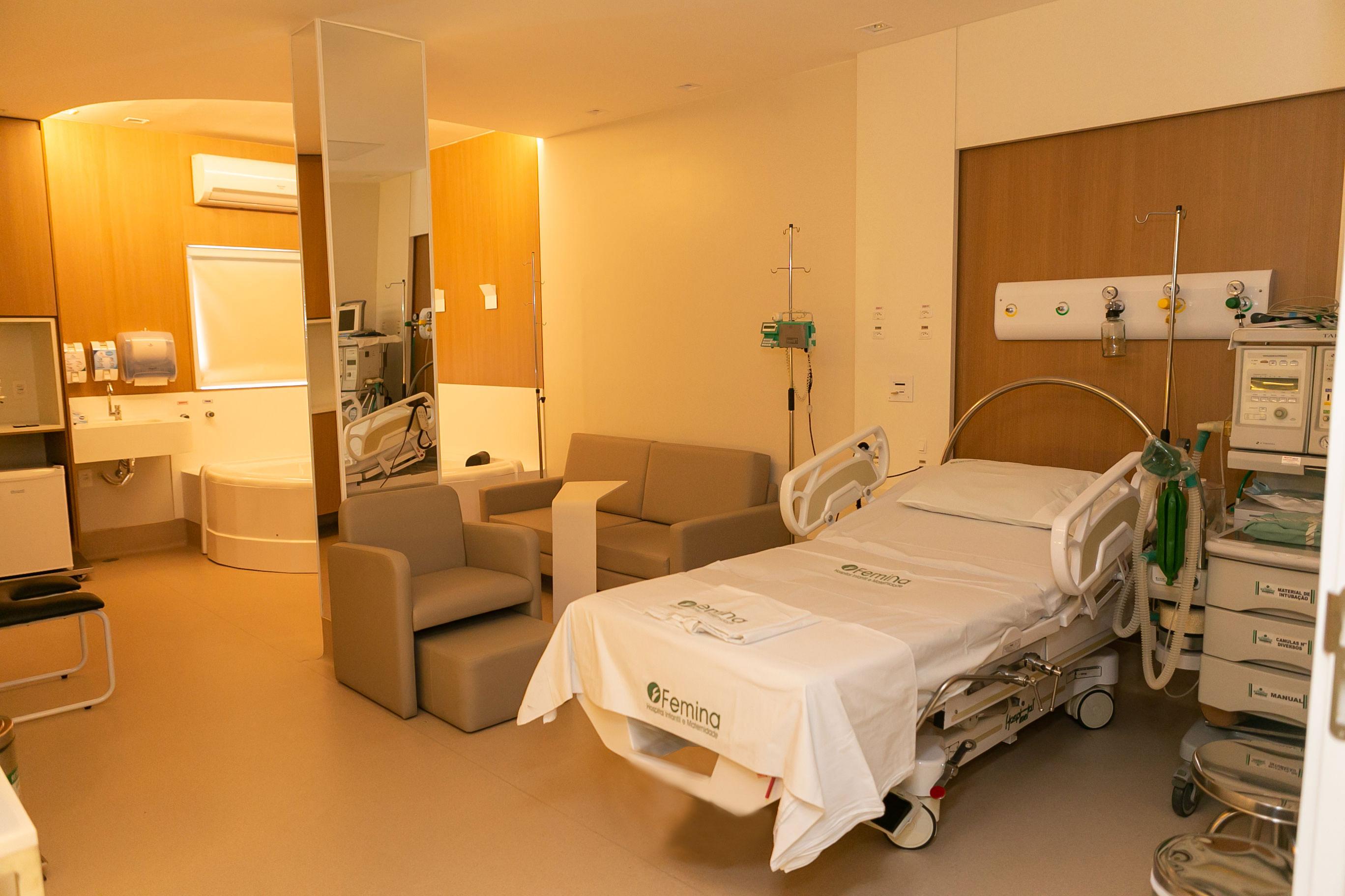 Femina volta a disponibilizar sala especial para parto humanizado