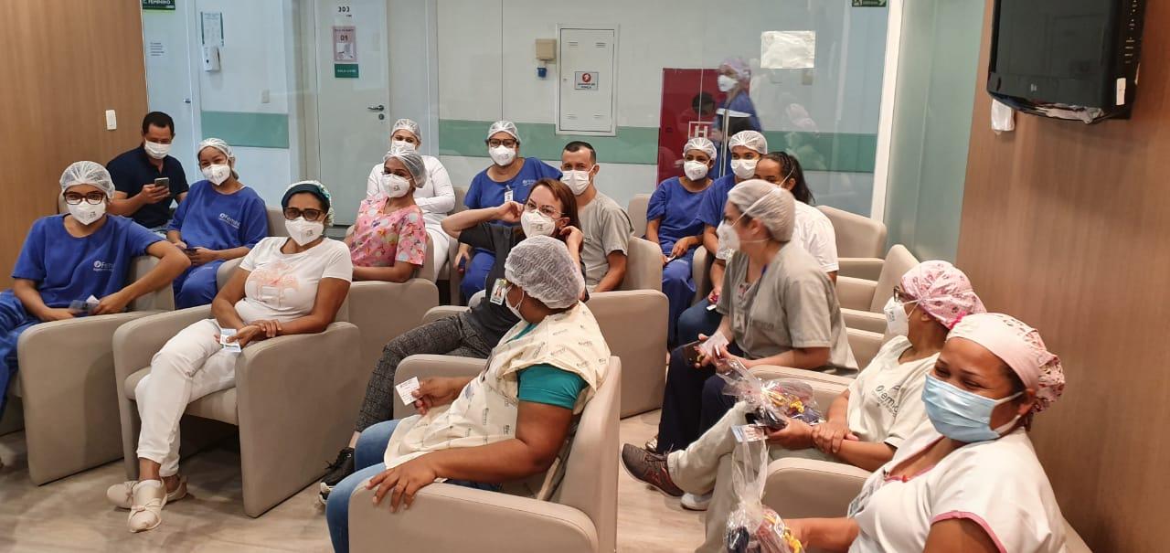 Femina realiza atividades no mês dedicado ao controle de infecção hospitalar e higienização das mãos